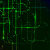 Green Abstract background of digital technologies Stock Image