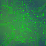 Green Abstract background of digital technologies. Vector eps10. Background of digital technologies - electronic circuit Royalty Free Stock Photography