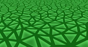 Green Abstract background formed by triangles with interior lighting. 3d illustration Royalty Free Illustration