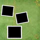 Green abstract background with frames Royalty Free Stock Image