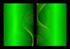 Green abstract background, front and back Royalty Free Stock Photos