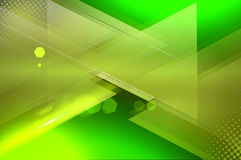 Green abstract background. Green background with abstract geometric elements Stock Photo