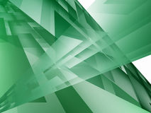 Green abstract background. With geometric fields Royalty Free Stock Photo