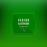 Green abstract background, Geometric frame with light effects. Halftone square light background, place for text. Green dots design background. Vector flyer Stock Photos