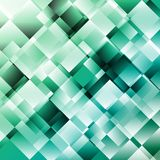 Green abstract background with geometric pattern vector illustration