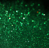 Green abstract background, green bokeh abstract lights Stock Image