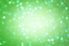 Green abstract background, green bokeh abstract lights Royalty Free Stock Photo
