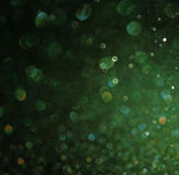 Green abstract background, green bokeh abstract lights Stock Photography