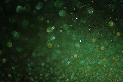 Green abstract background, green bokeh abstract lights. Royalty Free Stock Photos