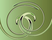 Green abstract background with helix. Vector illustration royalty free illustration