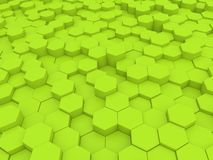 Green abstract background of hexagons . 3d rendering illustration stock illustration