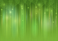 Green  abstract background with leaves. Green shiny abstract background with leaves Stock Photo
