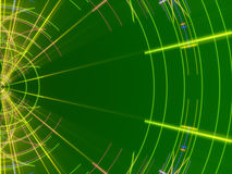 Green abstract background, lines and light. Form vector illustration