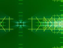 Green abstract background, lines and light. Form Stock Photography