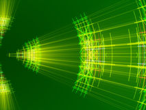 Green abstract background, lines and light Stock Images