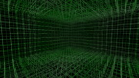 Green abstract background made of wireframe pattern stock video