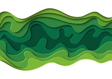 Green abstract background paper art style royalty free illustration