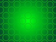 Green abstract background, particles circles Stock Images