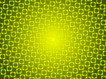 Green abstract background, particles circles and squares Stock Images