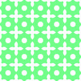 Green abstract background with a pattern. Background with white shapes - circles and crosses Royalty Free Stock Photography