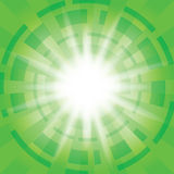 Green abstract vector background with radial abstractions Stock Images