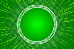 Green abstract background, ray and particle. And form Royalty Free Stock Image