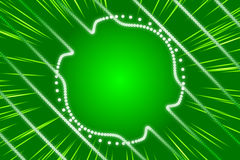 Green abstract background, ray and particle. And form Stock Photos