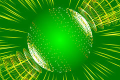 Green abstract background, ray and particle. And form Royalty Free Stock Images