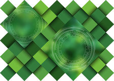 Green abstract background, shadows of color. Royalty Free Stock Photo
