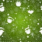 Green abstract background with snowflake Royalty Free Stock Image