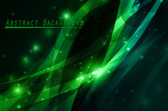 Green abstract background. With sparkles and circles Stock Image