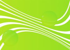 Green abstract background with spheres Royalty Free Stock Image