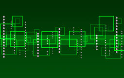 Green abstract background of squares Stock Photo