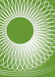 Green abstract background with symmetric geometric star motif. Royalty Free Stock Image