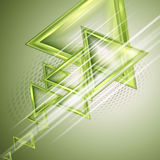 Green abstract background. With triangles Stock Photo