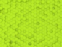 Green abstract background wall of hexagons . 3d rendering illustration stock illustration