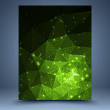 Green grunge geometric abstract background vector illustration