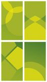 Green abstract backgrounds. Can be used for business cards, greeting cards, gift tags, labels Stock Photography