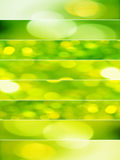 Green abstract backgrounds. Vertical composition divided in eight horizontal lines with abstract sparkling textures in lemon yellow and acid green tones Royalty Free Stock Photo
