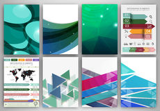 Green abstract backgrounds and abstract concept vector icons. Abstract vector backgrounds and brochures for web and mobile applications. Business and technology Stock Image
