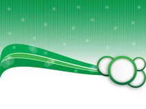 Green abstract banner. With green waves and circles with shades and lights stock illustration