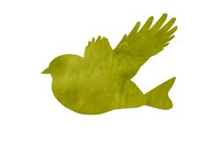 Green abstract bird Stock Photo