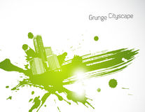 Green abstract brush illustration. Royalty Free Stock Photography