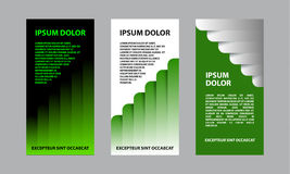 Green abstract business template for flyer, brochure, presentation. A set of financial templates for a banner Royalty Free Stock Image