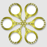 Green abstract c. Ircular object with white boxes Stock Photography