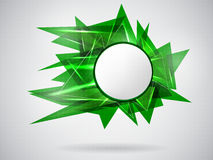 Green_abstract_card Illustration Stock