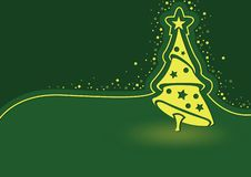 Green Abstract Christmas Background Illustration royalty free illustration