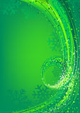 Green Abstract Christmas Greeting Stock Image