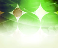 Green Abstract Circle Background Stock Image