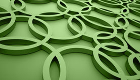 Green abstract circle background Stock Images